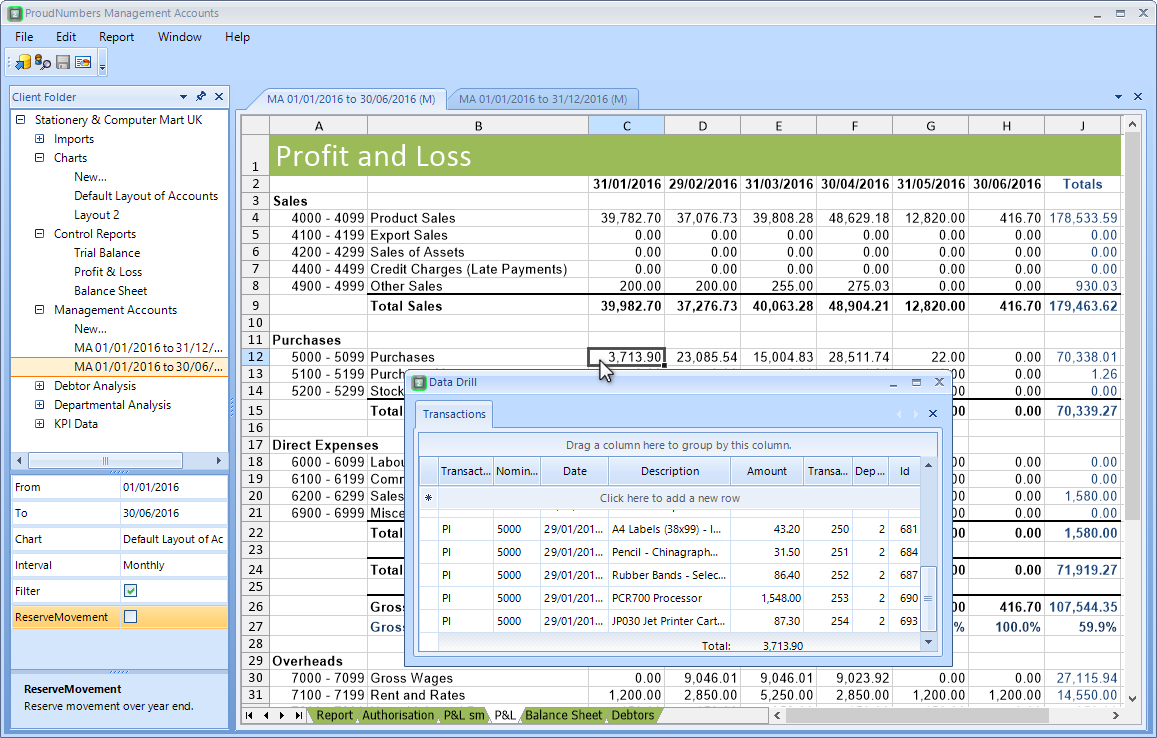 how to prepare management accounts